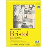 Strathmore 300 Series Bristol Smooth Pad, 9'x12' Tape Bound, 20 Sheets