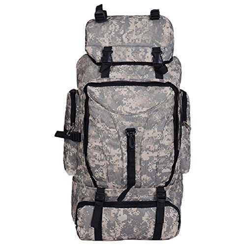 Bath Camouflage Tactics Multifonctionnel Outdoor Alpinisme Sac à Dos, résistant à l'usure, réglable, étanche, Haute qualité mâle et Femme Sac à Dos général,B,56-75L