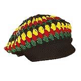 WIDMANN Berretto Reggae/Rasta all'Uncinetto Cappello e Copricapi Vari Party 708, Multicolore, Taglia Unica