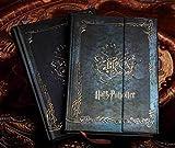 Bureze Agenda de cuaderno vintage de Harry Potter con calendario 2017-2018-2019, con tapa dura, agenda y agenda
