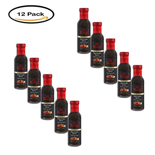 PACK OF 10 - HOUSE OF TSANG SZECHUAN SPICY Stir-Fry Sauce 11.5 oz. Bottle