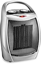 HOME_CHOICE Small Ceramic Space Heater Electric Portable Heater Fan for Home Dorm Office Desktop and kitchen with Adjustable Thermostat,ETL Listed for Safe Use (Silver)