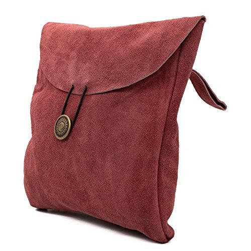Mythrojan Medieval Renaissance Suede Jewelry Belt Pouch LARP Costume Waist Bag – Pink