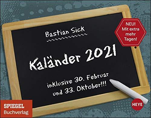 Bastian Sick Tagesabreißkalender 2021 - Tischkalender mit perforierten Seiten - zum Aufstellen oder Aufhängen - Format 11 x 14 cm