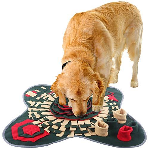 IEUUMLER Snuffle Mat para Perros Alfombrilla de Entrenamiento Estera de Entrenamiento Manta para la Nariz Juguete de Juego IE081 (71x71cm, Red & Green)