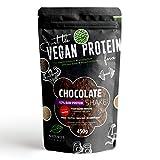 Shake au Chocolat Bio 63% Protéines Vegan et Sucré à la stévia 450g | Sans Sucre et Gluten | Mélange de Protéines Végétales