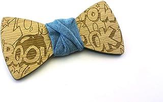 Papillon legno GIGETTO Boom Nodo Jeans Made in Italy