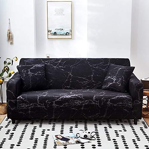 ASCV Protector de Muebles-Funda elástica para Sala de Estar Funda de sofá de Esquina Funda de sofá elástica A6 3 plazas
