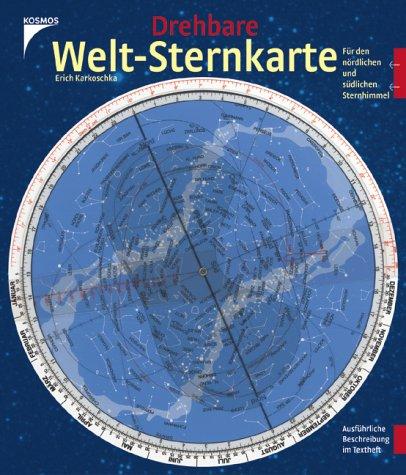Drehbare Welt-Sternkarte: Für den nördlichen und südlichenen Sternhimmel