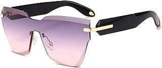 Dama gafas de sol, Gafas de sol de moda unisex de gran tamaño Personalidad Retro Anti-UV Gafas de sol grandes de montura completa Señoras Hombres Conducción al aire libre Viajes Gafas de sol de mujer,