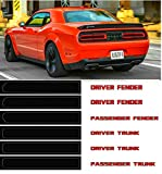 Tail Light Tint Kit for 2015-2019 Dodge Challenger Tinted Dry Application Film Precut for '15-'19 Dodge Challenger Taillight (6Pack) (Black) (red-Dodge Challenger)
