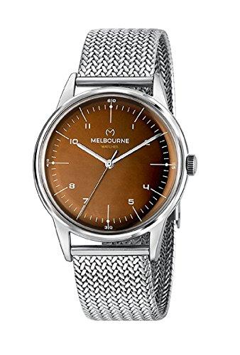 Uhr Melbourne Mailänder Mesh-Armband Zifferblatt braun