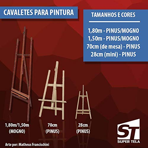 MINI CAVALETE PARA TELA DE PINTURA - 30 CM