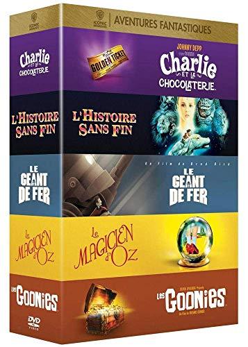 Collection de 5 films aventures fantastiques Warner : Le Géant de fer + L'Histoire sans fin + Les Goonies + Charlie et la chocolaterie + Le Magicien d'Oz [Italia] [DVD]