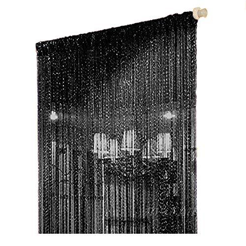 cortinas negras y doradas