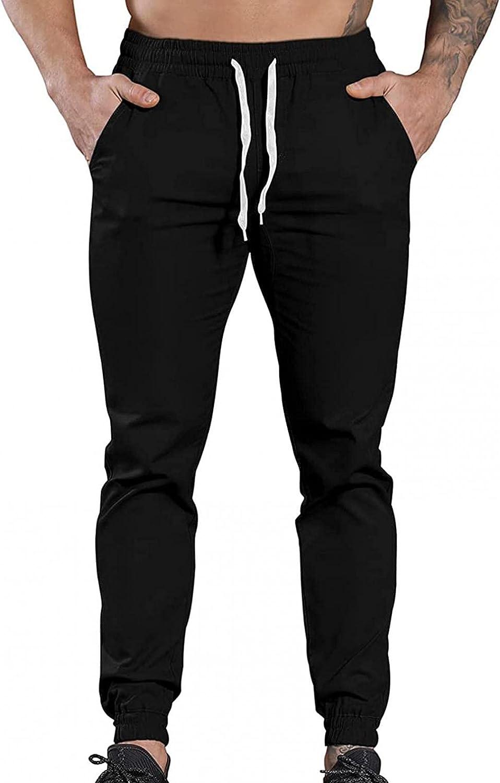 Kirbaez Mens Max 41% OFF Sweatpants [Alternative dealer] Casual Solid Sport Drawstri Pants Color