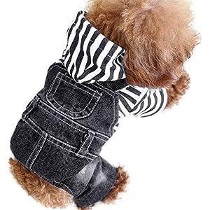 """Sild Cool vintage délavé Veste en jean JumpSuit Blue Jean Vêtements pour petit chien animal domestique/3Styles """""""