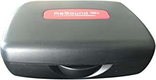 Resound Portable Storage Carrying Case for Hearing Aid Amplifier/PSAP/BTE/ITE/ITC/CIC/RIC/RITE (Black)