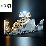 QJXF Juego De Luces USB Compatible con Lego Star Wars Imperial Destructor Estelar 75055, LED Light Kit para (Destructor Imperial) De Bloques De Creación De Modelos (No Incluido Modelo)