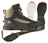 Korkers Greenback Wading Boots - Packed with the Essentials - Includes Interchangeable Felt and Kling-On Soles