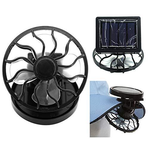 zNLIgHT Ventilador | Ventilador eléctrico portátil con energía solar ventilador de refrigeración de mesa de viaje mini enfriador de aire - base aleatoria