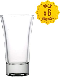 vasos cristal chupitos vasos de chupito originales para whisky, vodka, tequila set juego de vaso chupito de 60 ml de whiskey bebidas alcoholicas vidrio endurecido baratos shot glasses (6 unidades)