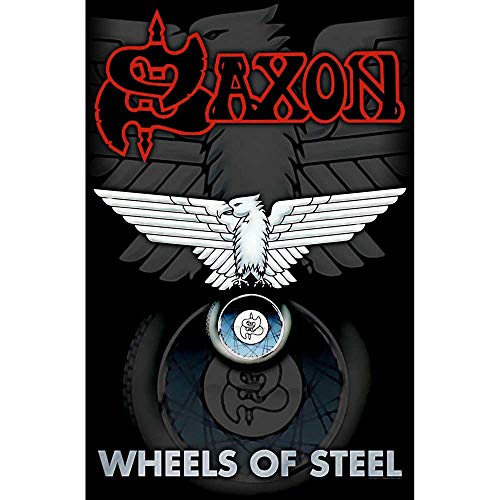 SAXON   WHEELS OF STEEL Flag/ Flagge