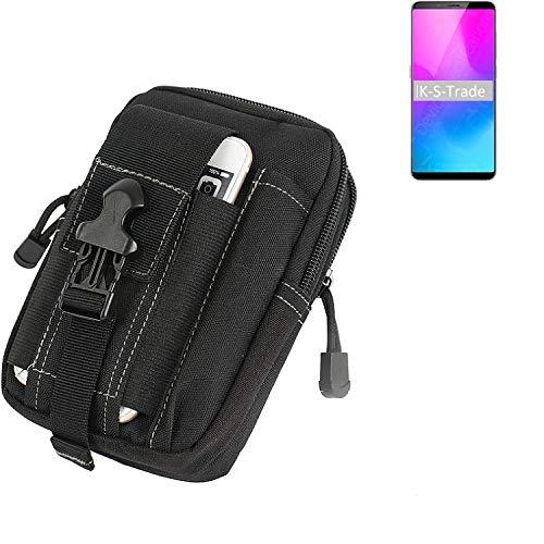 K-S-Trade Gürtel Tasche Für Nubia Z18 Mini Gürteltasche Holster Schutzhülle Handy Hülle Smartphone Outdoor Handyhülle Schwarz Zusatzfächer