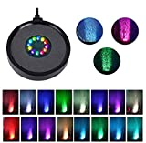 Allnice Aquarium Bubble Light Aquarium Air Stone Disc with 7 Light Colors Changing and Slow Flash Effect LED Light Air Bubble Stone Lamp for Fish Tanks Aquariums and Fish Ponds