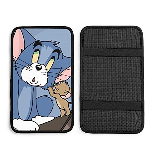 Jerry Told Tom The Little Secret - Cojín universal para reposabrazos de coche, cubierta para consola central de coche, protector de caja de pasamanos suave, decoración de coches, accesorios