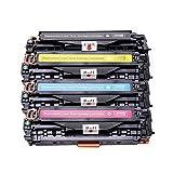 XCCV Cartucho de tóner 304A CC530A Compatible con HP Laserjet CP2020 CP2025 CM2320 Impresora Negro con Chip 2200Pages-SET