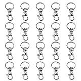 TRIXES 20 kleine abnehmbare Drehverschlüsse für Schlüsselringe - Karabinerhaken...