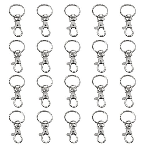 TRIXES 20 X Small Lobster Detachable Swivel Clasps for Key Split Ring Craft...
