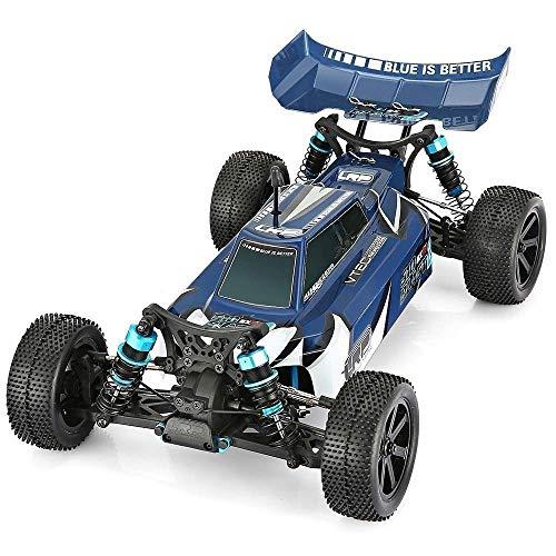 Raelf 1:10 4WD Control remoto Monster Drift Drift Control Remoto Coche Transportación Off-Road Racing Vehicle RC Buggy Coche RTF 3650 3300KV Motor sin escobillas / 45A Cumpleaños en escote a prueba de