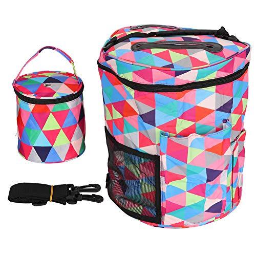 Bolsa de almacenamiento, propiedades a prueba de polvo 600D Material de tela Oxford Bolsa de almacenamiento impresa impermeable 2 piezas Conveniente para agujas o tijeras para llevar(Triángulo)