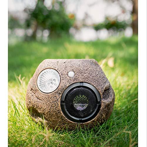 Solar Bluetooth Speakers Outdoor, Portable Bluetooth Stereo Speaker Waterproof Wireless for Patio Pool Garden Backyard Rock Shape