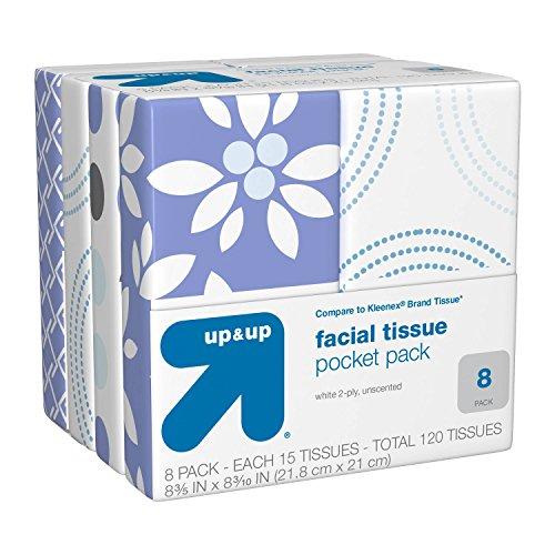Facial Tissue Pocket Pack - 10ct/8pk - Up&Up™