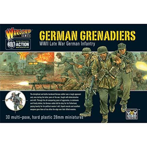 WGB-WM-09 - Warlord Games - Acción De Perno - Granaderos Alemanes De La Segunda Guerra Mundial De La Segunda Guerra Mundial - Miniaturas De 28 mm x 30