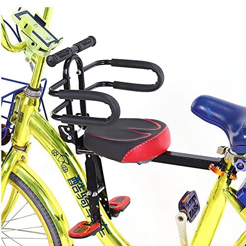 JTYX Seggiolino per Bici per Bambini Seggiolini per Bicicletta montati frontalmente con Pedali Bracciolo Seggiolino per Bicicletta Pieghevole per...