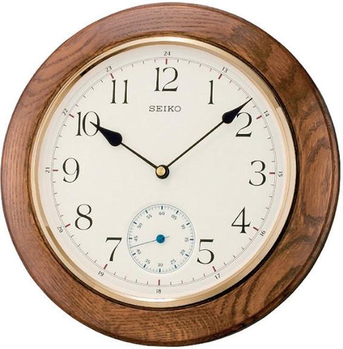 Orologio da parete unisex, bianco, rund  seiko qxa432b -