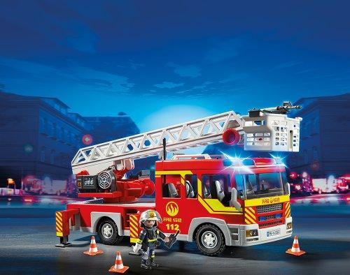 RC Auto kaufen Feuerwehr Bild 3: PLAYMOBIL 5362 - Feuerwehr-Leiterfahrzeug mit Licht und Sound*