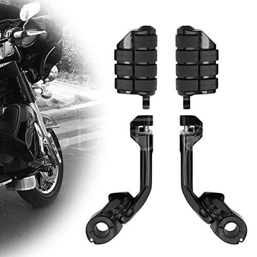 Motorcycle Footpegs Foot Rest Highway Pegs (Black) for Road King Street Glide Honda Suzuki Yamaha Kawasaki Engine Guard