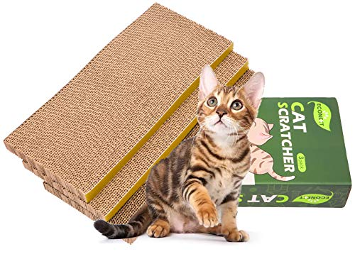 N/N 3 in 1 Cat Scratcher Cardboard, Cat Scratching Pad Toy with Catnip, Cat Scratcher Pad Lounge Sofa Bed, Suitable for Cats to Rest, Grind Claws and Play.