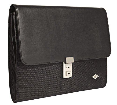 Wedo 585501 Aktenmappe Elegance (A4, mit Stufenschloss) schwarz