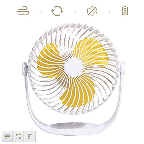 Mini tamaño del escritorio del ventilador de tres velocidades del viento velocidad de bajo ruido de funcionamiento del ventilador eléctrico 360deg ajustable;Cubierta libre circulación del aire rotacio