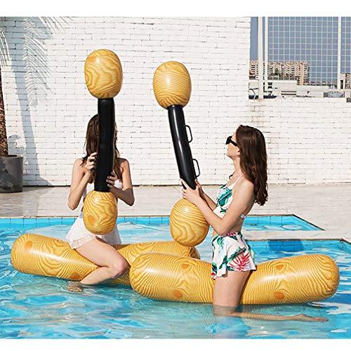 Yeliu Flotador de Piscina de Juguete Juego de Agua Anillo de natación Piscina de Flotador Inflable Juguete Inflable Color de Madera para Adultos
