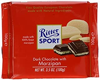 Ritter Dark Chocolate With Marzipan, 3.5 oz by Ritter Sport
