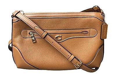 Coach Leather Ivie Messenger Crossbody Handbag, Light Saddle
