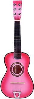 OVERWELL Guitare Enfant en Bois 6 Cordes 23 Pouce Jouet Guitare Instrument de Musique éducatifs pour Débutant Enfant Garco...