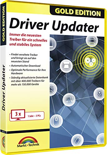 Driver Updater - Universal Treiber aktualisieren für Windows 10 / 8.1 / 7 für 3 PCs - 1 Jahr ab Aktivierung